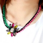 Colorful Handmade Braided Rope Necklace (Model)