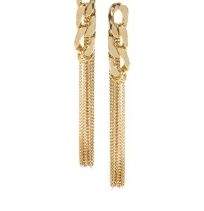 ASOS Inspired Metal Chain Tassle Earrings