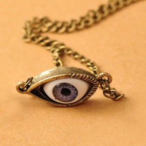 Vintage Angel Eyes Necklace (Antique Bronze)