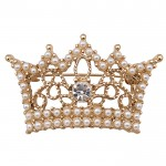 Pearl Crown Brooch1