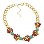 Flowery Paragraph Necklace (Colorful)